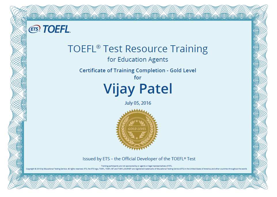 TOEFL Test Resource Training